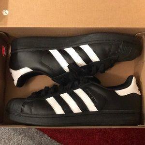 Black and white Originals Adidas with Box
